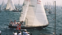 WHITBREAD: Det var folksomt da «Berge Viking» startet i The Solent i 1981 i Whitbread Round The World Race.